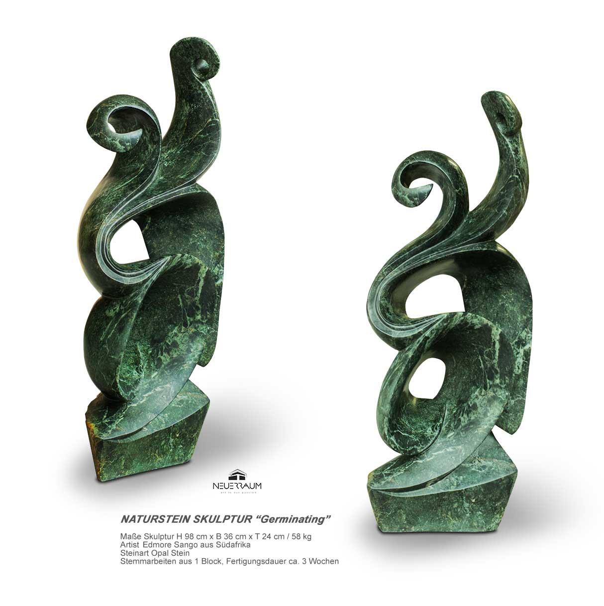 Gewaltig Grüne Pflanzen Beste Wahl Große Naturstein Skulptur