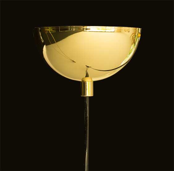 goldener k fig lampe neuerraum. Black Bedroom Furniture Sets. Home Design Ideas