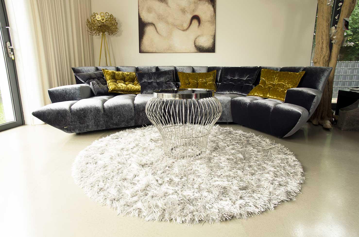 bauhaus couchtisch mit schwarzer glasplatte neuerraum. Black Bedroom Furniture Sets. Home Design Ideas