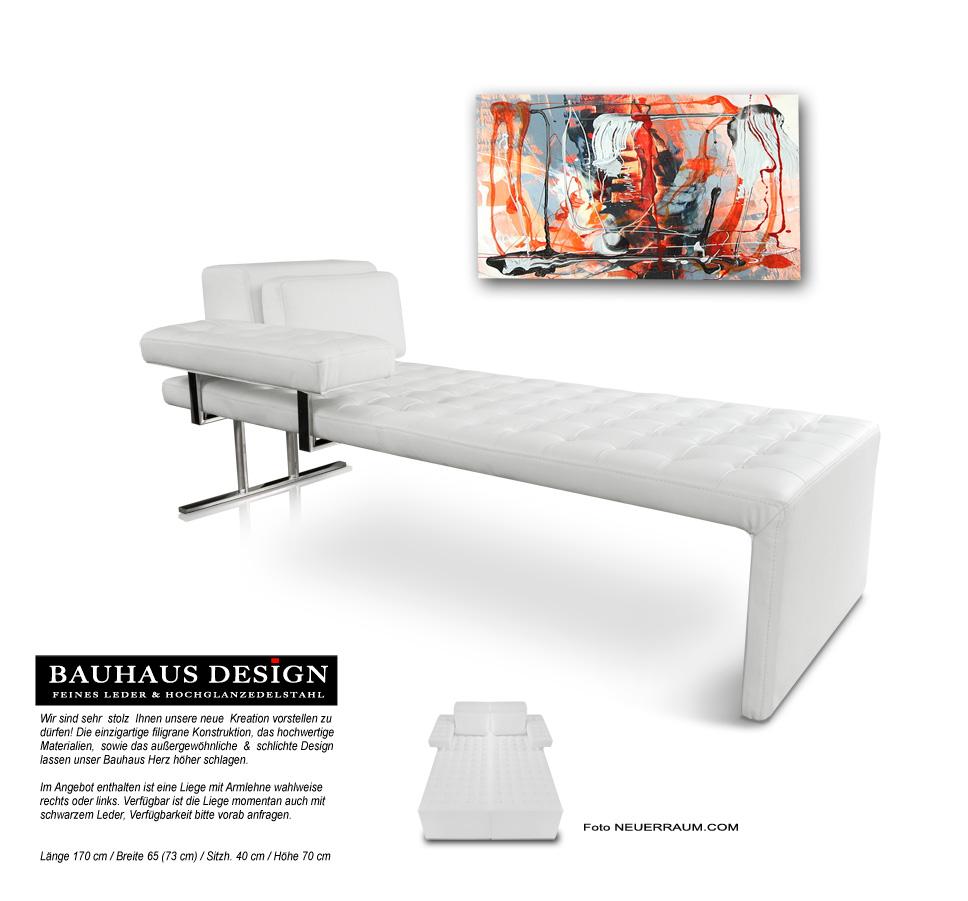 bauhaus leder tagesbett leather daybed lederliege leder. Black Bedroom Furniture Sets. Home Design Ideas