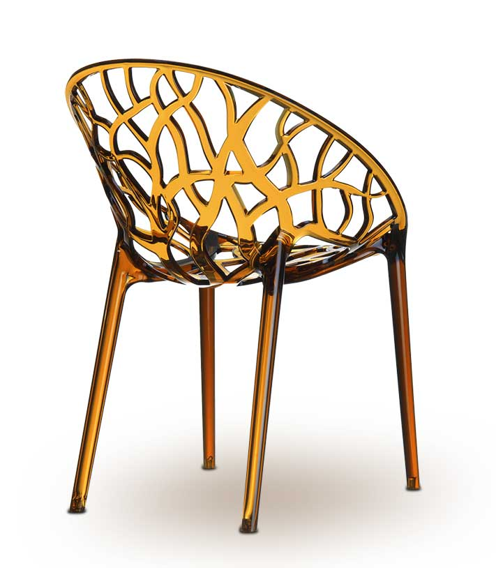 Interesting Amazing Polyamide Chair Nature In Amber With Stuhl Acryl