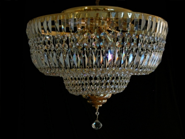 Ceiling chandelier with squarely crystals - No chain! - Kopie