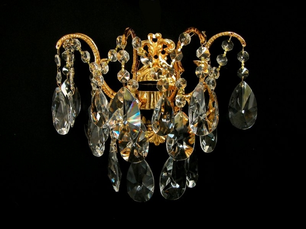 Georgian Crystal wall light