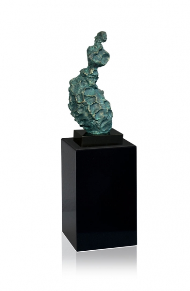 PRAYING FEMALE * WONDERFUL SCUPLTURE MADE IN BRONZE FINISH WITH MARBLE STAND.