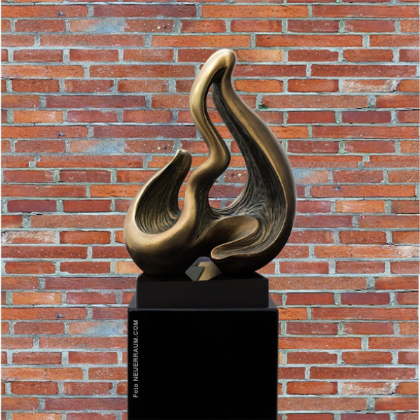"Our new sculpture ""Wave"" made in antique copper design. Many further artworks available."