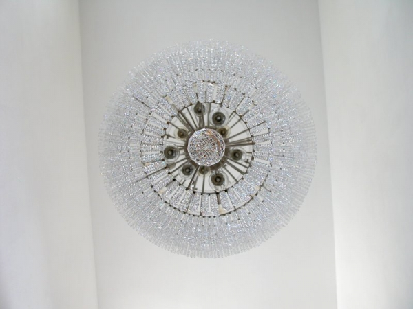 Huge modern crystal chandelier