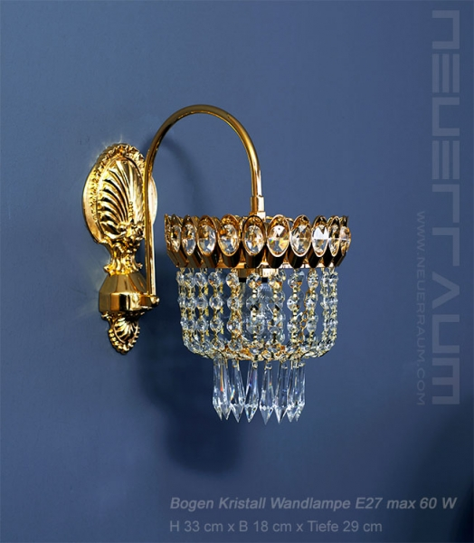 Amazing wall light with real crystals. Matching chandelier in stock.