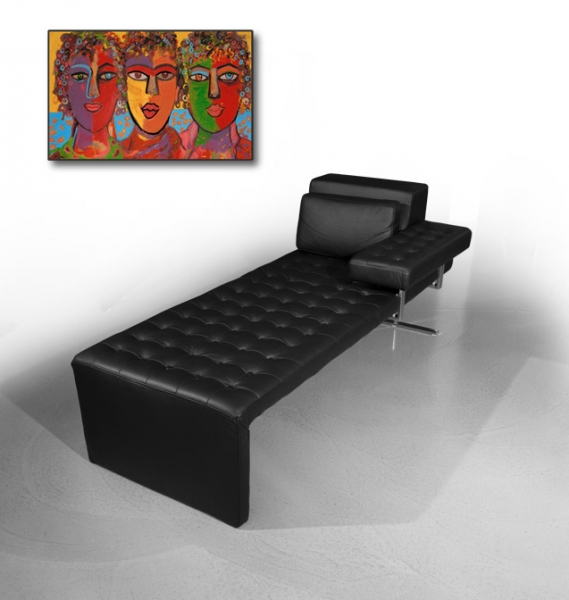 Bauhaus leather daybed