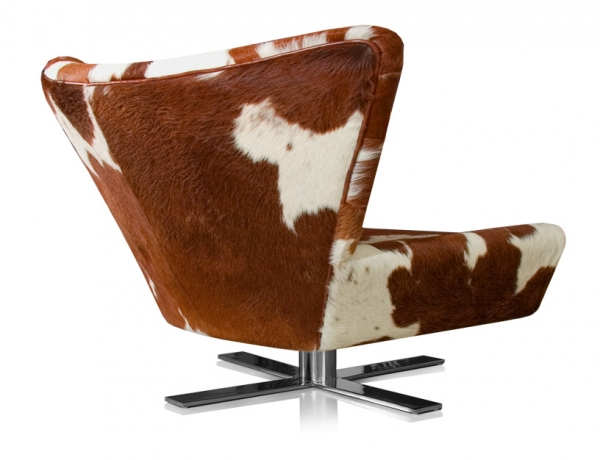 Wing chair cow skin