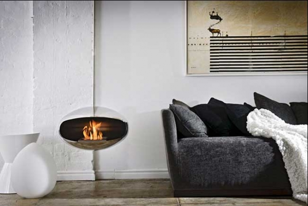 COCOON AERIS STAINLESS STEEL HÄNGING FIREPLACE