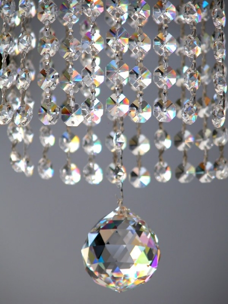 Large Gallery crystal chandelier