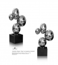 Ball sculpture steel polished