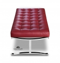 Bench leather wine red Bordeaux red