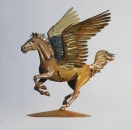 Pegasus horse sculpture iron